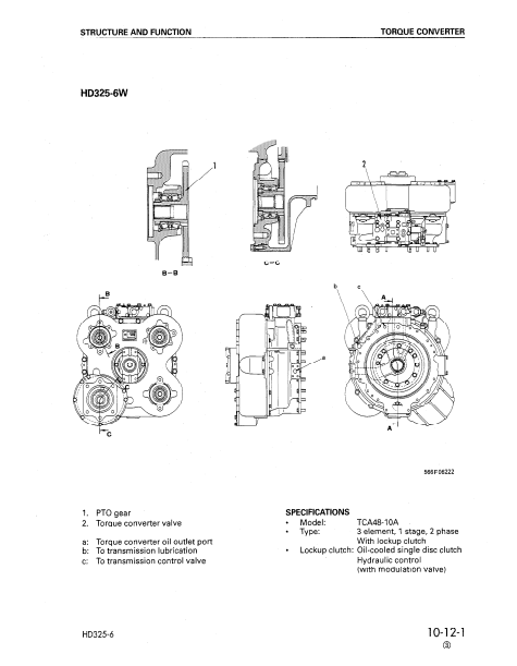کتاب تعمیرات دامتراک HD325/ HD405-6 کوماتسو